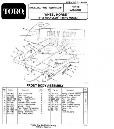 Mygig Rer To Amp Wiring Schematic: Tractor 1994 8-25 & 8-25e RER D&A OM IPL Wiring SN.pdf