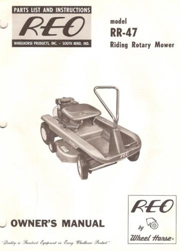 parts manual for rr 67 wheel horse reo matic