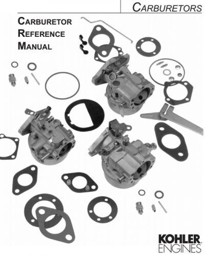 Engine Kohler Carburetor reference TP 2377 E pdf Kohler