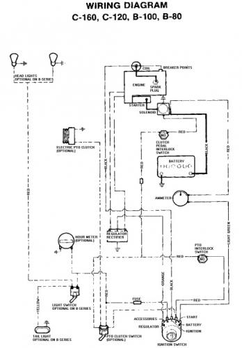 Tractor 1977 C-120  U0026 C-160 Wiring Only Pdf - 1973-1977