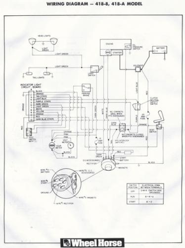 Wheelhorse Wiring Diagram