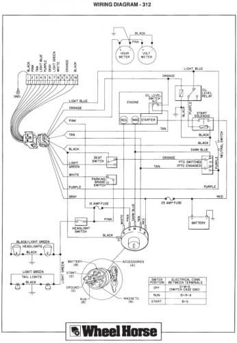 Wheel Horse 312 8 Wiring Diagram