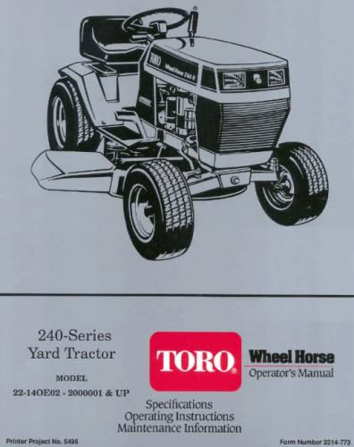 Tractor 1992 244 H D A OM Wiring 1991 1997