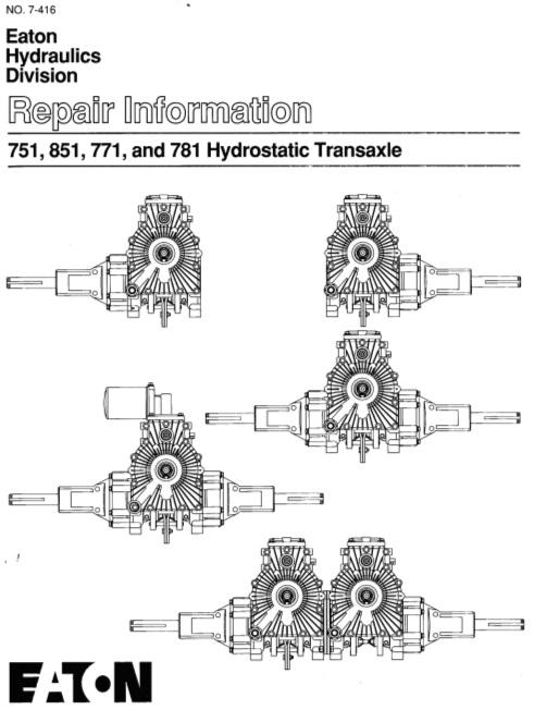 Transmission Hydro Eaton 751 771 781 & 851 SM #492-4222 pdf