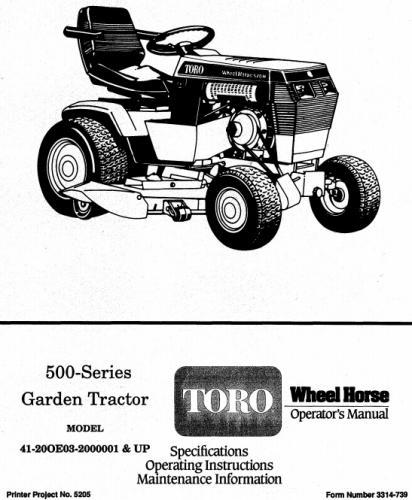 on wiring diagram toro wheel horse 72045