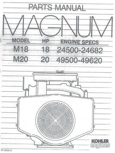 Engine Kohler Magnum M18 & M20 IPL pdf - Kohler - RedSquare