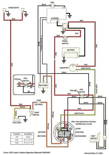 Tractor 1976 C -series Auto Wiring Revised Pdf
