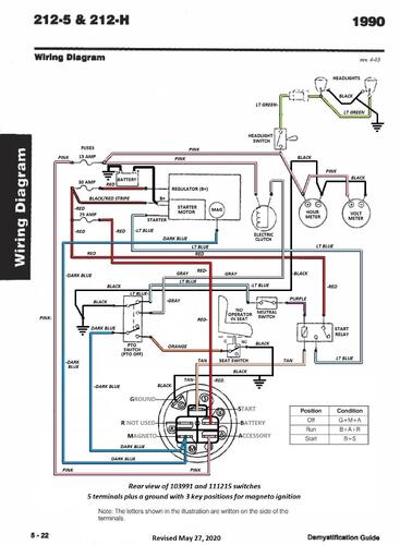 Tractor 1990 212-h Wiring Detailed Pdf