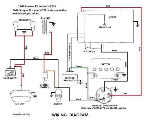 Tractor 1968 Electro 12 D U0026a Tpl Wiring Revised Sn Pdf - 1965-1972