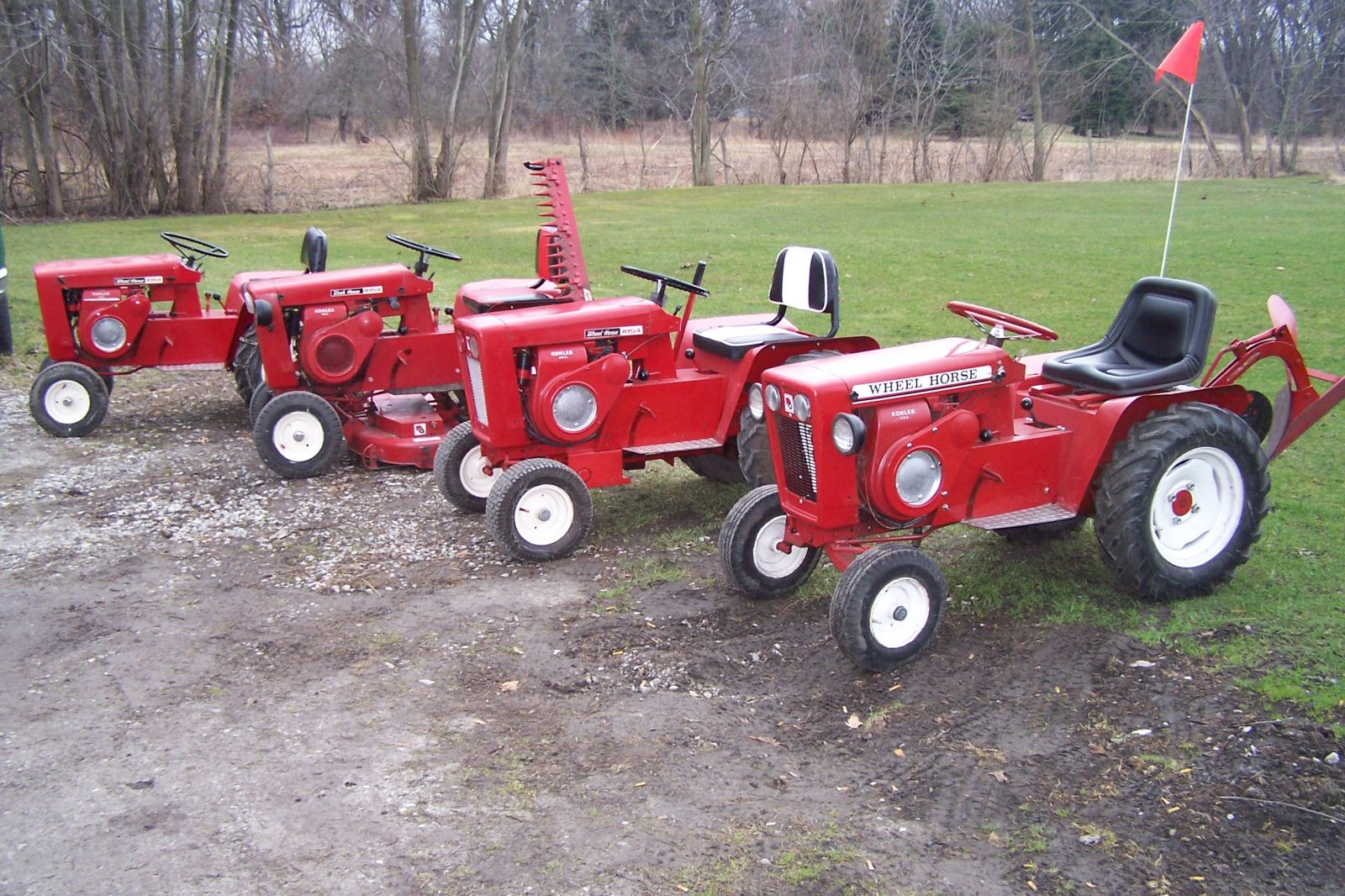 Ralph Family 1964 - 1054's and 1965-1054-A Wheel Horse Tractors
