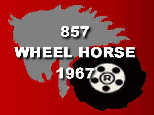 Red Wheel Horse 857 Tractor 1967 mini frame logo