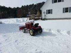 wheel horse plowing snow 2014