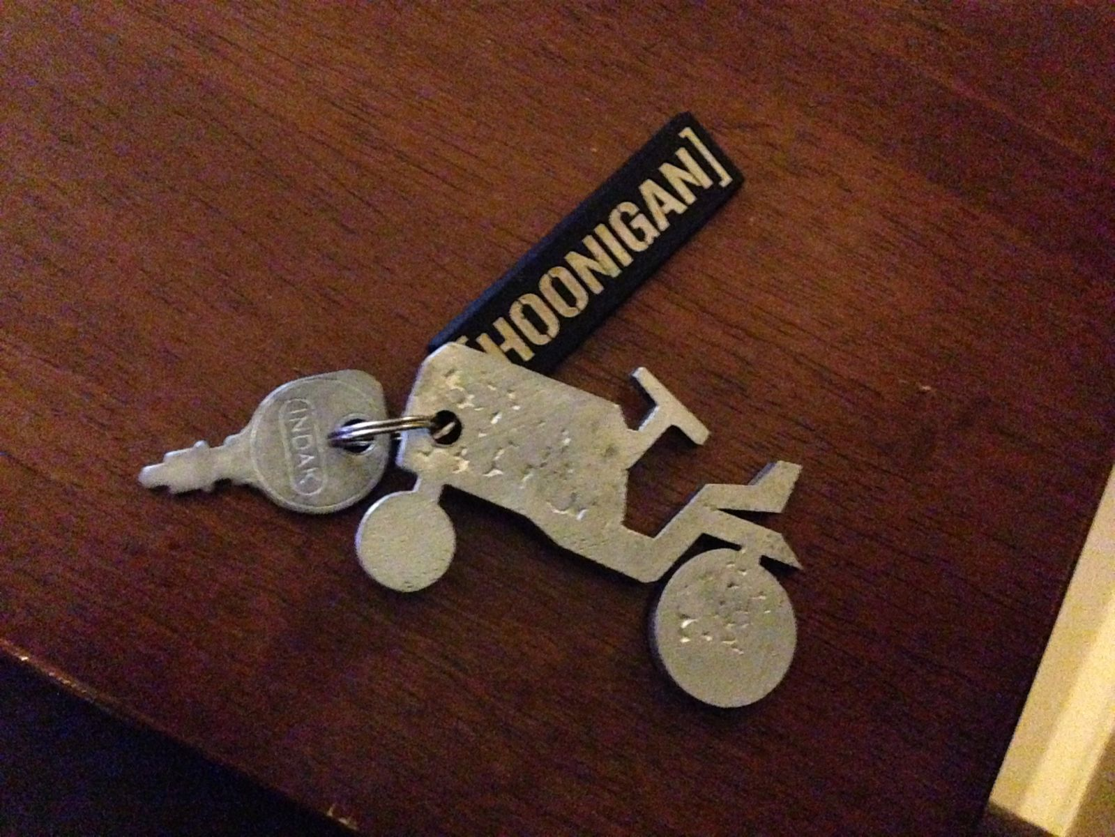 the new keyring on my tractor keys