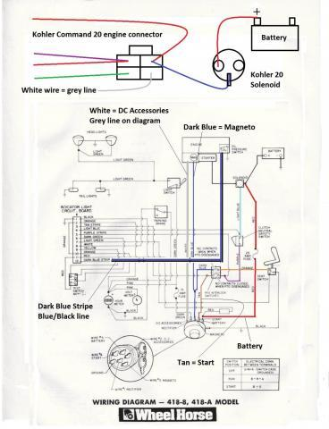[SCHEMATICS_4HG]  Repower wiring help - Wheel Horse Electrical - RedSquare Wheel Horse Forum | 1 2 Hp Kohler Wiring Diagram |  | Wheel Horse Forum