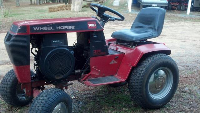 Wheelhorse 314 8 Year Make Questions Wheel Horse Tractors