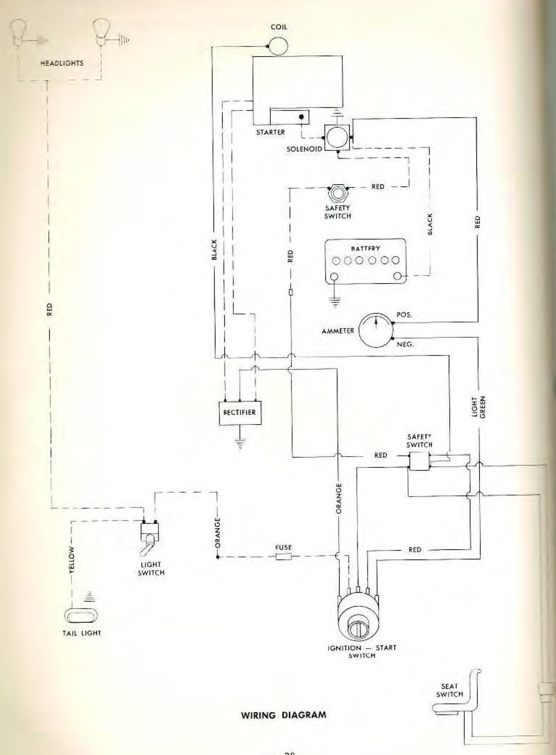 C100 Wiring Diagram - Wheel Horse Electrical
