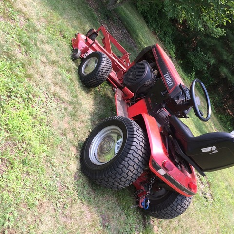 Mowing with the front mower