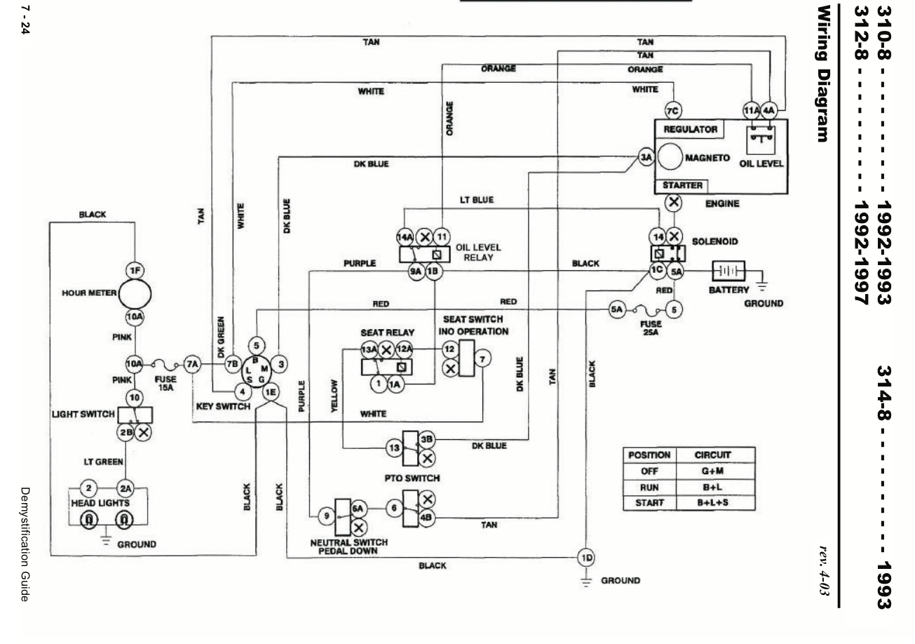 toro wheel horse 312 wiring diagram