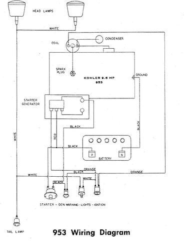 Wiring       diagram    for 953     Wheel       Horse    Electrical