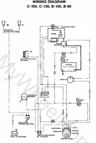 wheelhorse wiring diagram  wire harness fisher 96446