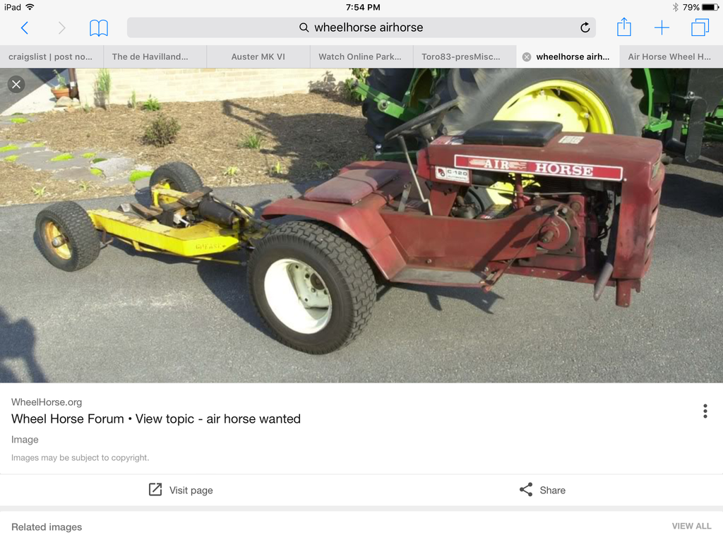 New year needs help with Air Horse - Wheel Horse Tractors
