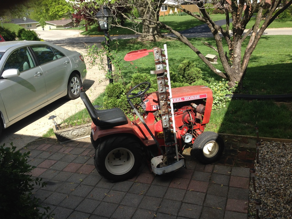 Haban Sickle Mower and 1974 B-80 Wheel Horse - Wheel Horse