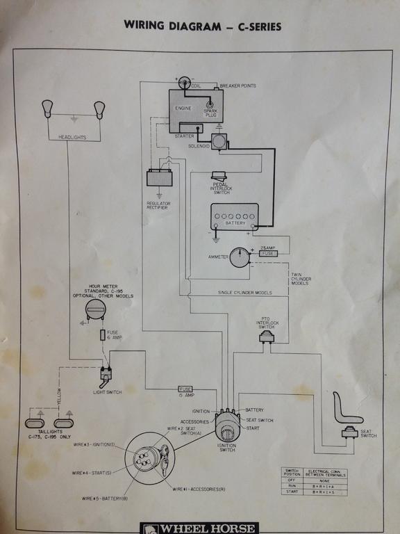 c175 electrical gremlin  wheel horse electrical