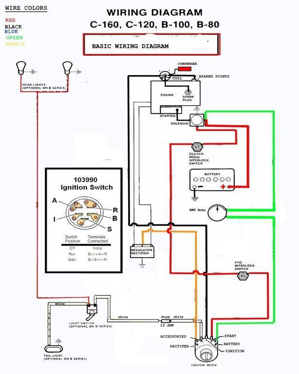 Wheel Horse B Wiring Diagram on